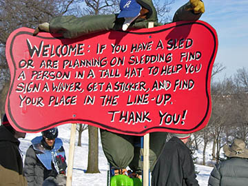 the rules for the sledding