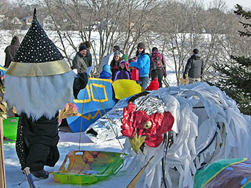 This wizard showed up at the 2010 Art Sled Rally! at Powderhorn Park in Minneapolis Minnesota on Saturday, January 30.